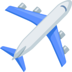 ✈ Смайлик Facebook / Messenger «Airplane»