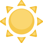 ☀ Смайлик Facebook / Messenger «Sun»