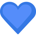 💙 Facebook / Messenger «Blue Heart» Emoji