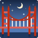 Смайлик Facebook 🌉 - Bridge at Night В Messenger'е