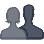 👥 Facebook / Messenger «Busts in Silhouette» Emoji