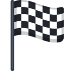 🏁 Смайлик Facebook / Messenger «Chequered Flag»