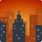 🌆 Facebook / Messenger Cityscape at Dusk Emoji - Site Facebook