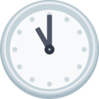 🕚 Facebook / Messenger Eleven O'clock Emoji - Site Facebook