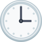 🕒 Facebook / Messenger «Three O'clock» Emoji