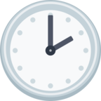 🕑 Facebook / Messenger «Two O'clock» Emoji - Facebook Website version