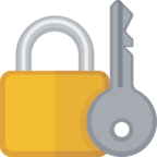 🔐 Facebook / Messenger «Locked With Key» Emoji
