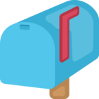 📫 Смайлик Facebook / Messenger «Closed Mailbox With Raised Flag»
