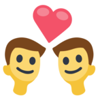 👨‍❤️‍👨 Facebook / Messenger «Couple With Heart: Man, Man» Emoji