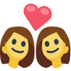 👩‍❤️‍👩 Смайлик Facebook / Messenger Couple With Heart: Woman, Woman - На сайте Facebook