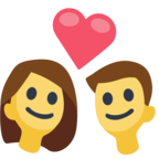💑 Смайлик Facebook / Messenger «Couple With Heart»