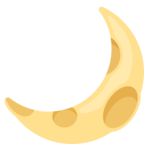 🌙 Смайлик Facebook / Messenger «Crescent Moon»