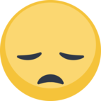 😞 Facebook / Messenger Disappointed Face Emoji - Facebook Website