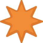✴ Facebook / Messenger «Eight-Pointed Star» Emoji