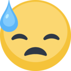 😓 Facebook / Messenger «Face With Cold Sweat» Emoji