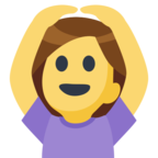 🙆 Facebook / Messenger Person Gesturing OK Emoji - Site Facebook