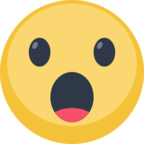 😮 Facebook / Messenger Face With Open Mouth Emoji - Site Facebook