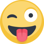 😜 Facebook / Messenger «Face With Stuck-Out Tongue & Winking Eye» Emoji
