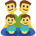 👨‍👨‍👦‍👦 Facebook / Messenger «Family: Man, Man, Boy, Boy» Emoji