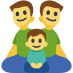 👨‍👨‍👦 Facebook / Messenger «Family: Man, Man, Boy» Emoji