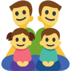 👨‍👨‍👧‍👦 Facebook / Messenger Family: Man, Man, Girl, Boy Emoji - Site Facebook