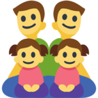 👨‍👨‍👧‍👧 Facebook / Messenger Family: Man, Man, Girl, Girl Emoji - Site Facebook