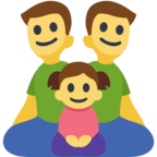 👨‍👨‍👧 Facebook / Messenger «Family: Man, Man, Girl» Emoji - Facebook Website version