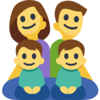 👨‍👩‍👦‍👦 Facebook / Messenger «Family: Man, Woman, Boy, Boy» Emoji