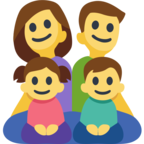 👨‍👩‍👧‍👦 Facebook / Messenger «Family: Man, Woman, Girl, Boy» Emoji