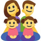 👨‍👩‍👧‍👧 Facebook / Messenger «Family: Man, Woman, Girl, Girl» Emoji