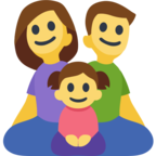👨‍👩‍👧 Facebook / Messenger «Family: Man, Woman, Girl» Emoji
