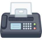 📠 Facebook / Messenger Fax Machine Emoji - Site Facebook