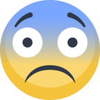 😨 Facebook / Messenger Fearful Face Emoji - Site Facebook
