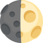 🌓 Facebook / Messenger «First Quarter Moon» Emoji