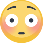😳 Facebook / Messenger «Flushed Face» Emoji