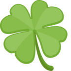 🍀 «Four Leaf Clover» Emoji para Facebook / Messenger
