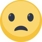 😦 Смайлик Facebook / Messenger Frowning Face With Open Mouth - На сайте Facebook