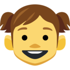 👧 Facebook / Messenger «Girl» Emoji