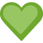 💚 Facebook / Messenger Green Heart Emoji - Site Facebook
