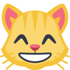 😸 Facebook / Messenger Grinning Cat Face With Smiling Eyes Emoji - Facebook Website