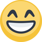 😁 Facebook / Messenger Grinning Face With Smiling Eyes Emoji - Facebook Website