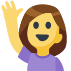 🙋 Facebook / Messenger Person Raising Hand Emoji - Facebook Website