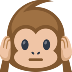 Смайлик Facebook 🙉 - Hear-No-Evil Monkey В Messenger'е