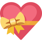 💝 Facebook / Messenger Heart With Ribbon Emoji - Site Facebook