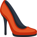 👠 Facebook / Messenger High-Heeled Shoe Emoji - Site Facebook
