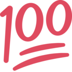 💯 Facebook / Messenger Hundred Points Emoji - Facebook Website