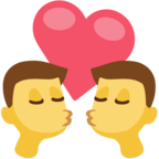 👨‍❤️‍💋‍👨 Facebook / Messenger «Kiss: Man, Man» Emoji