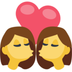👩‍❤️‍💋‍👩 Facebook / Messenger «Kiss: Woman, Woman» Emoji