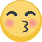 😚 Facebook / Messenger «Kissing Face With Closed Eyes» Emoji