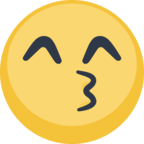 😙 Facebook / Messenger Kissing Face With Smiling Eyes Emoji - Site Facebook